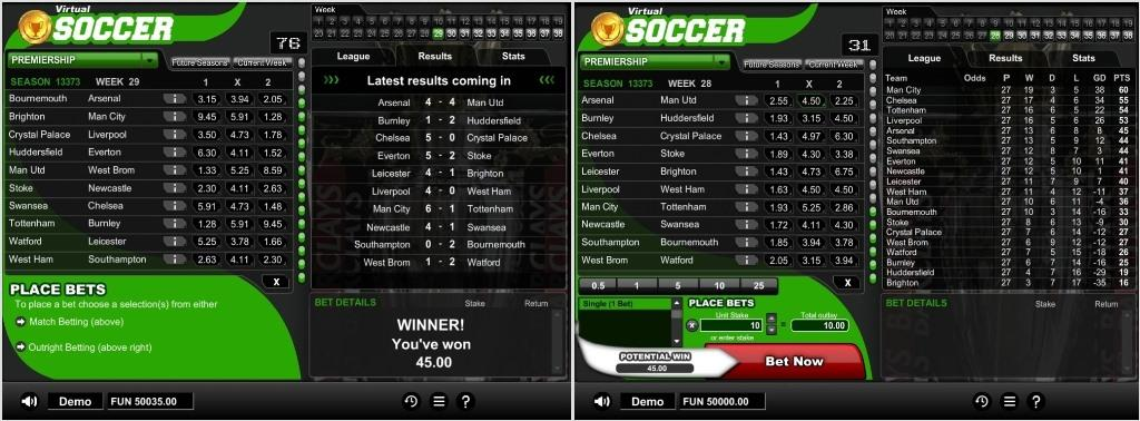 virtual soccer softgamings