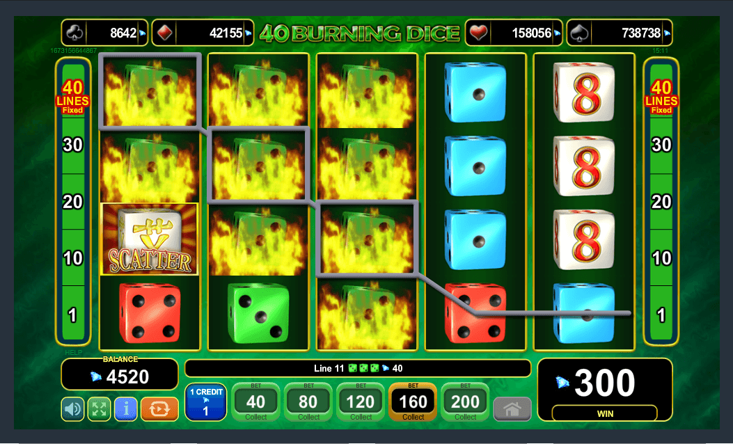 EGT Interactive 40 Burning Dice