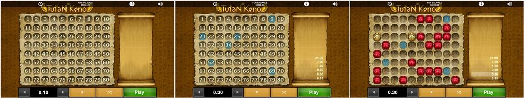 tutan keno 1x2 network softgamings