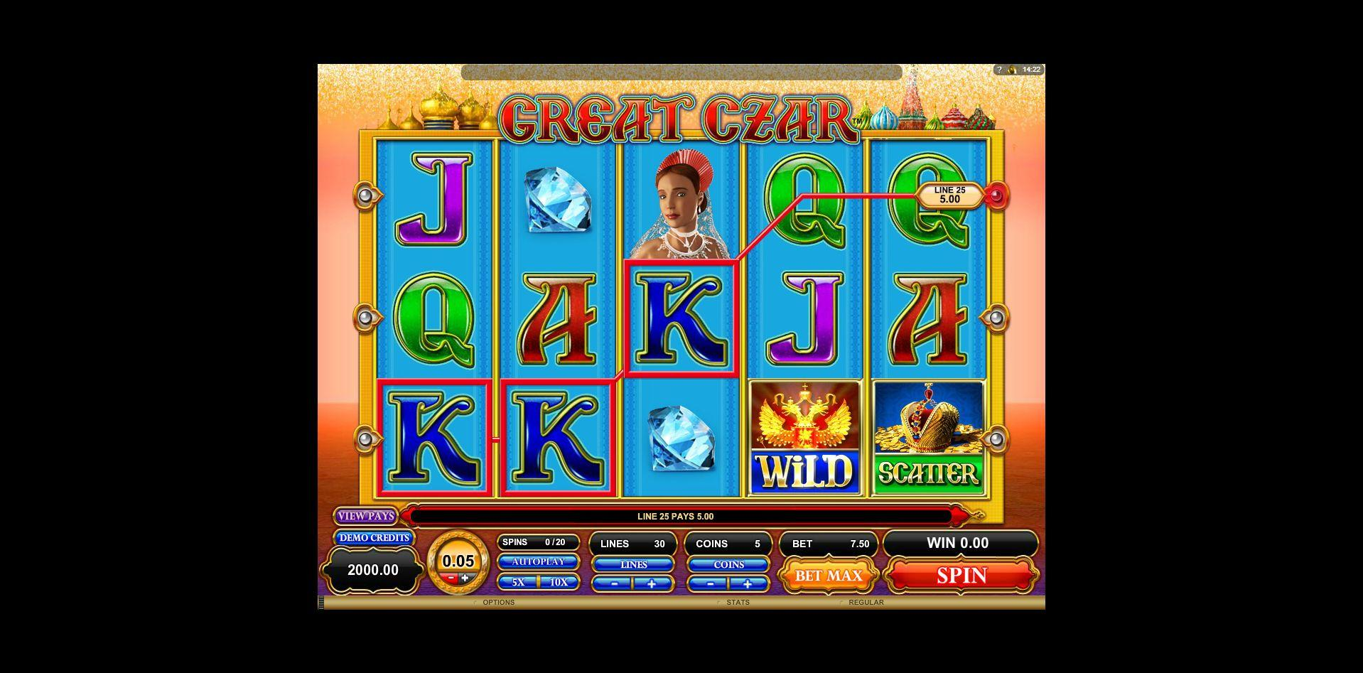 Great Czar Slot - Play the Microgaming Casino Game for Free