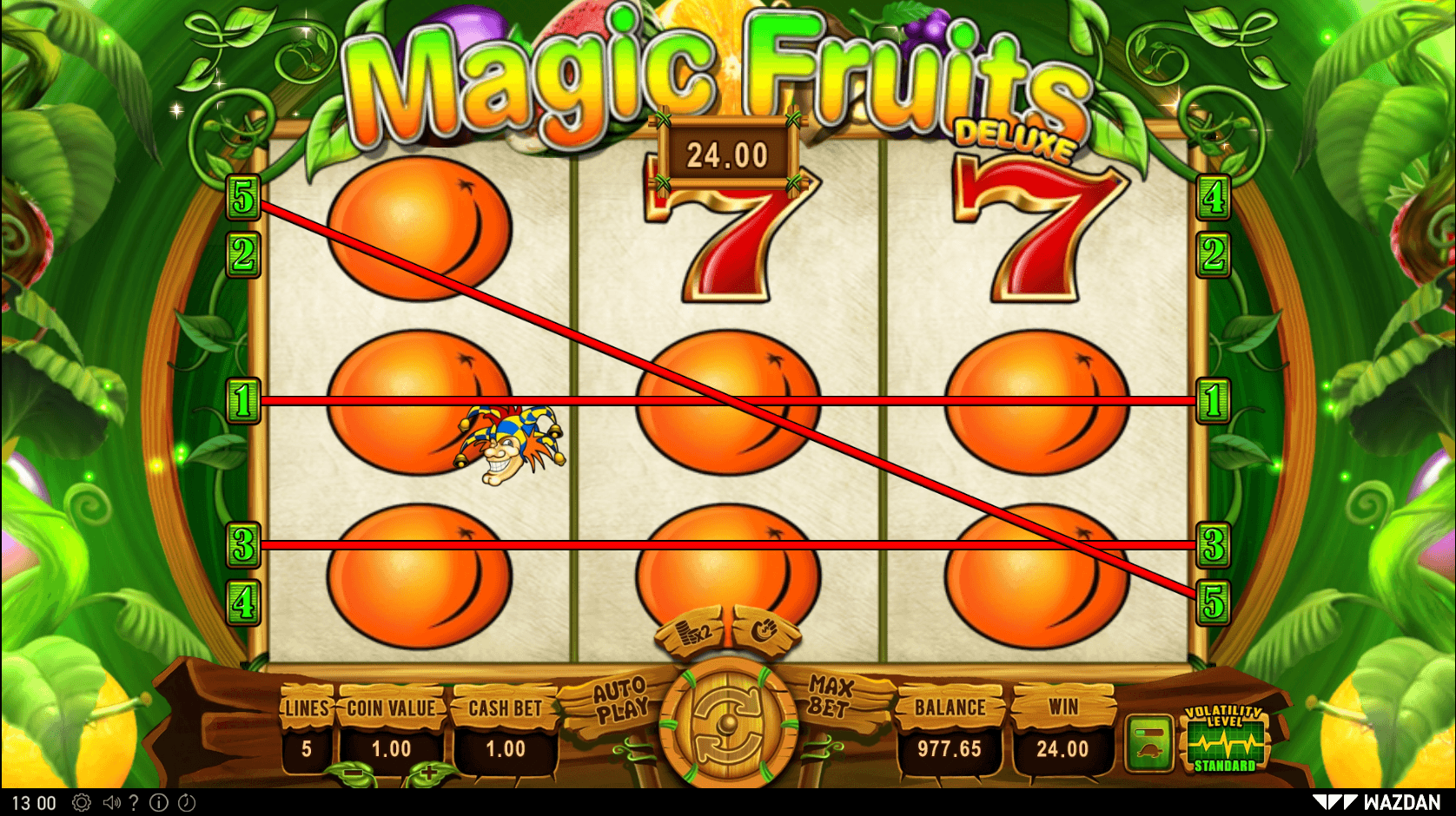 Magic Fruits Deluxe SoftGamings
