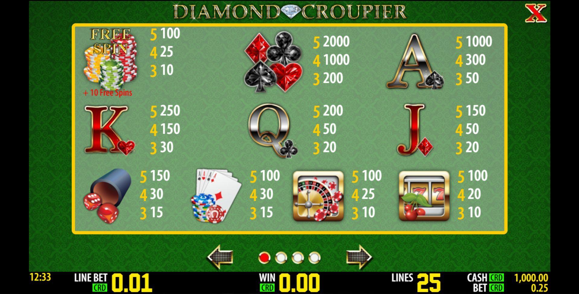 Spielautomat diamond croupier kostenlos online