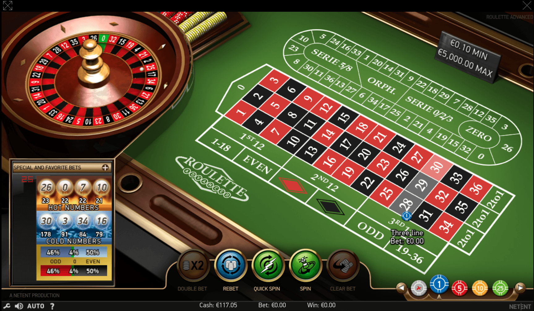 Roulette Advanced NetEnt