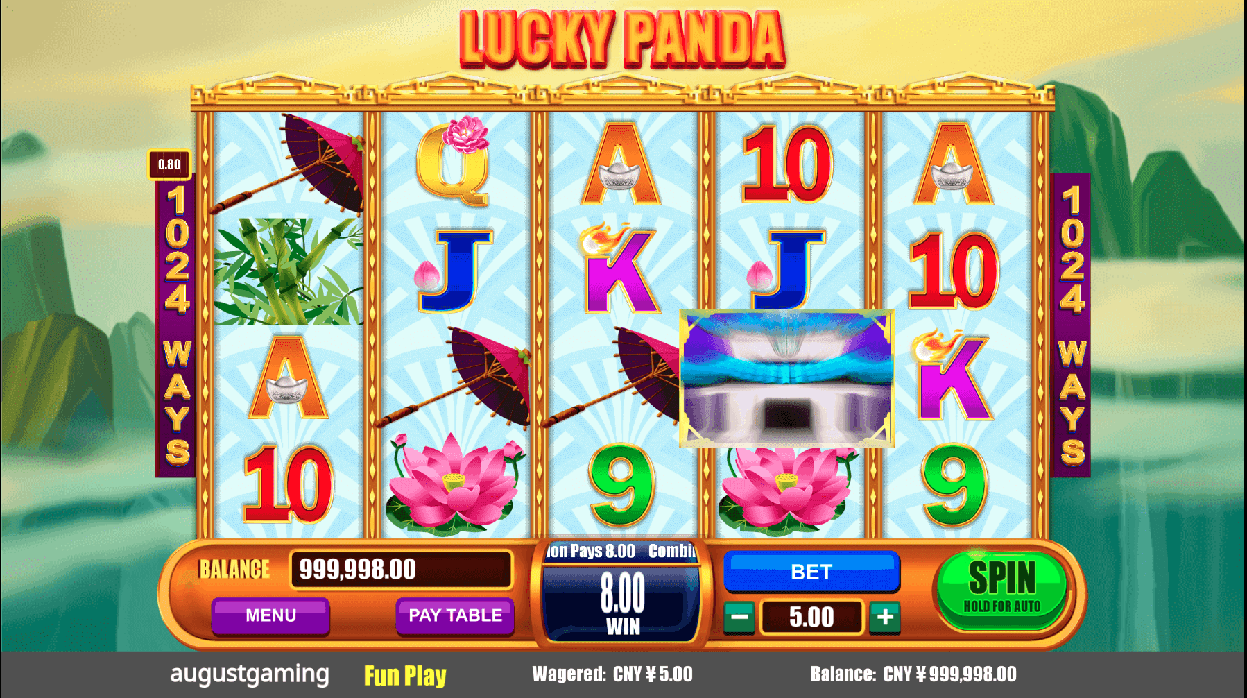 August Gaming Lucky Panda