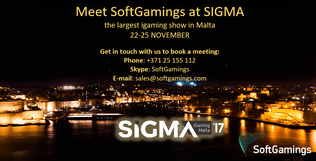 SoftGamings is going to Malta! Meet us at SiGMA 2017