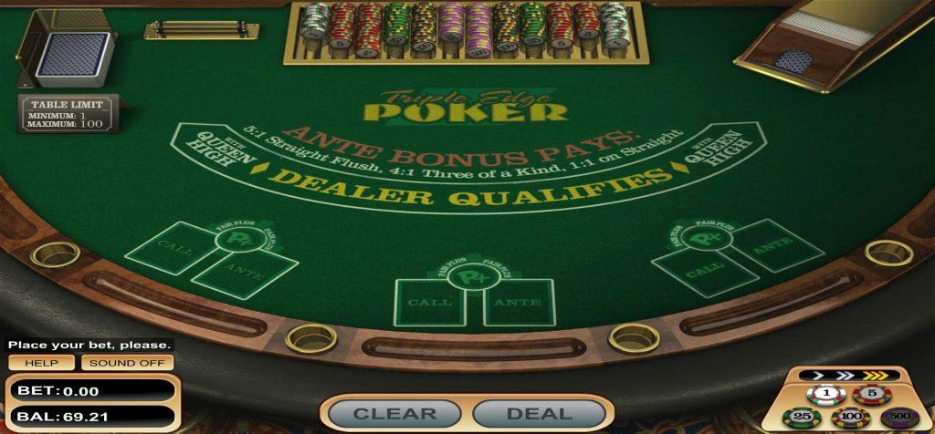 triple edge poker screenshot
